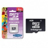 Card Memorie micro SD 4GB, Integral  INMSDH4G4NAV2