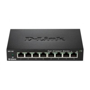 "Switch unmanaged 8 port-uri 10/100M, carcasa metalica, D-LINK ""DES-108"""