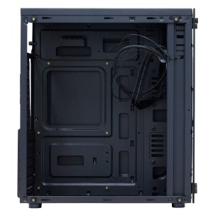 "CARCASA SPACER Mini-Tower ATX, L1ght, panou de sticla, suporta 5* 120mm fan, I/O panel, black ""SP-GC-01"""