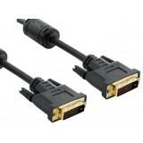 Cablu monitor DVI-D (24 +1) - DVI-D (24 +1) M / M 1.8m, Dual Llik, ferita - retail, 4World 04692
