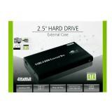 Carcasa HDD pentru IDE 2.5'' - USB2.0, aluminiu, neagra, 4World 05287
