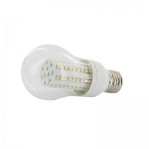 Bec LED Whitenergy 90xSMD3528, P55, E27 5W, 230V, alb cald, transparent
