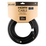 Cablu HDMI - HDMI High Speed cu Ethernet (v1.4), 3D, HQ, negru, lungime 20m, 4World 08609