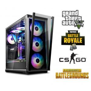Sistem Gaming AMD Ryzen 5 3600 3.6GHz, 6 nuclee, 16GB DDR4, 1TB SSD, RX 580 8GB GDDR5 256 BIT, 700W, Iluminare RGB