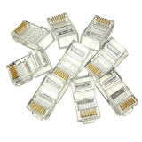 SET 100 buc MUFE UTP RJ45 CAT6, punga 100 mufe UTP CAT 6