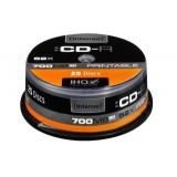 CD-R Intenso, cutie 25 bucati, capacitate 700MB, viteza scriere 52x, imprimabil - Fullface