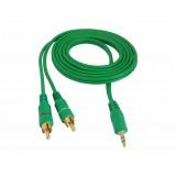 Cablu jack 3,5mm la 2RCA 1,5m verde 4.0X8mm