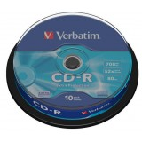 CD-R VERBATIM 700MB 52X EXTRA PROT. CAKE 10 bucati