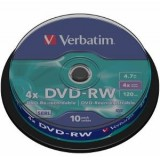 Verbatim DVD-RW 4.7GB, 4x, spindle, 10 bucati