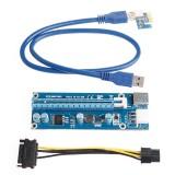 Extensie pentru placa video suplimentara USB3.0 PCI-E Express 1x To 16x Extender Riser Card Adapter SATA 6Pin Power Cable