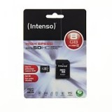 Card memorie 8GB microSDHC Class 10 Highspeed Intenso Incl. Adapter