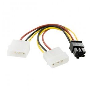 Cablu alimentare placa video 6 PINI BTX, din 2 x MOLEX, 4World