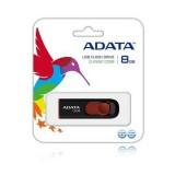 Stick Flash USB Adata Classic C008 8GB, retractabil, negru si rosu [AC008-8G-RKD]