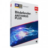 Licenta antivirus retail Bitdefender Antivirus Plus 2020, Nou, 1 AN - 1 calculator,  optimizat, anti-ransomware, confidentialitate VPN, SafePay
