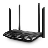 Router Wireless Gigabit  Dual-Band TP-Link ARCHER C6,  AC1200 dual band, 4 antene 5dbi MU-MIMO, acoperire mare, rocesor Qualcomm Atheros QCA9563 la 775MHz 128MB RAM, 8MB ROM, buton on/off wifi