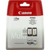 Set cartuse cerneala Canon PG-545 + CL-546, originale Canon Pixma IP2850, Pixma MG2450, Pixma MG2550