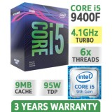 Procesor Intel Core i5-9400F, Hexa Core, 2.90GHz, 9MB, LGA1151, 14nm, no VGA, BOX,  PN: BX80684I59400F