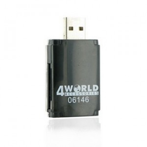 Cititor carduri flash 4World, USB 2.0 ALL-in-ONE MS/M2/SD/microSD/MMC PenDrive, 06146