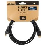 Cablu HDMI - HDMI High Speed cu Ethernet (v1.4), 3D, HQ, negru, 1.8m, 4World