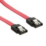 Cablu HDD | SATA 3 | 60cm | blocare | rosu, 4World, 08555