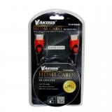 Cablu HDMI M - HDMI M, 2m, HighQuality, Vakoss TC-H1826GK, black / red