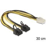 Cablu alimentare placa video de la 6 pini la 2x 8 pini, Delock 83433