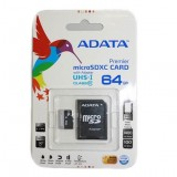Card memorie 64GB micro SDXC UHS-I ADATA Premier (Video Full HD) + adaptor SDHC