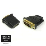 Adapter HDMI Female/ DVI (24+1) Male, Qoltec, 50514