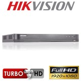 DVR 4 canale 3MP 4x TurboHD Hikvision DS-7204HQHI-K1; 4x TurboHD / AHD / Analog, 1 canal audio, H.265 / H.265+, 1x hdd SATA