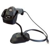 Cititor coduri de bare Zebra DS2208, USB, stand, negru - imager, 2D, IP42, cablu USB, stand, negru