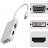 CONVERTOR MINIDISPLAYPORT la HDMI + DVI + VGA  CU CABLU 15CM, MacBook Mac Thunderbolt