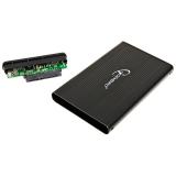 Rack HDD/SSD enclosure Gembird for 2.5'' SATA - USB 2.0, Aluminium, Black