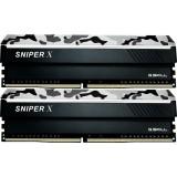 Memorie G.Skill Sniper X DDR4 32GB (2x16GB) 2400MHz CL17 1.2V Urban Camo, G.SKILL F4-2400C17D-32GSXW
