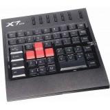TASTATURA gaming mini A4TECH G100 serie X7, cu fir, 48 taste, USB, negru