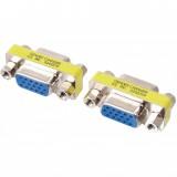 Adaptor VGA mama-mama, SVGA MAMA-MAMA , 15pini-15pini, extensie, Adaptor monitor HD15 GENDER CHANGER