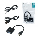 Convertor HDMI LA VGA, AUDIO SI VIDEO, FULL HD 1080p (din laptop cu HDMI in monitor cu VGA)