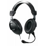 Casti cu microfon Genius HS-M505X, Full size, 20-20000Hz, 32 ohm, cablu 1.8m, culoare neagra, Jack 3.5mm