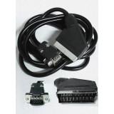 Cablu SCART la HD15 tata, lungime 1.5m