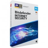 Antivirus Bitdefender Internet Security 2020, Nou, 1 AN - 1 PC,   Licenta retail, anti-ransomware, control parental, anti-tracker, monitorizare microfon, confidentialitate VPN si SafePay