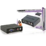 Converter VGA mama + 2x RCA mama catre iesire HDMI (HDMI Converter VGA Female + 2x RCA Female - HDMI Output)