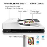 Scanner HP ScanJet Pro 2500 F1 (L2747A) Scaner Universal Flatbed+ADF autodetect, 20ppm, 1200dpi, Duplex