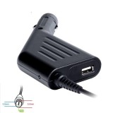 Alimentator auto laptop SAMSUNG, 19V/3.16A 60W connec 5.5x3.0mm+pin,USB Digitalbox