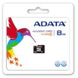 Card memorie microSDHC 8GB CL4  Adata AUSDH8GCL4-R