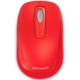 Mouse Microsoft Wireless Mobile 1000 red flame 2CF-00039, USB, 1000 dpi, 3 butoane, 1 AA, PC