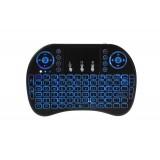 Mini tastatura MINI KB I8 AIR pentru SMART-TV, MEGA DROIDER IR - wireless, multimedia, touchpad, pilot IR