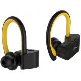 Casti bluetooth Media-Tech MT3595 Marathon TWS, in-ear, Microfon, Negru/Galben