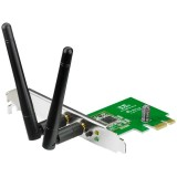 Adaptor wireless Asus PCE-N15, N300, PCI-E, 2 antene detasabile, low profile bracket inclus, v.A