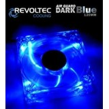 Ventilator Revoltec ''Dark Blue'', 120x120x25mm cu 4 LED-uri albastre