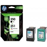 Set cartuse HP 350 + HP 351 originale negru+color, double pack [SD412EE]