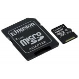 Card memorie microSDHC 128GB Kingston 128GB microSDXC Canvas Select 80R CL10 UHS-I Card + SD Adapter